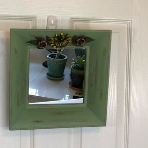 Other - Cute Green Decorative Wide Framed Mirror